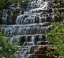 Waterfall near Glacier National Park by Bryan D. Spellman