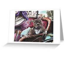 English Staffordshire Bull Terrier Greeting Card