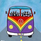 Rainbow Love Bus by Ryan Conners
