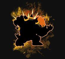 Super Smash Bros. Black/Dark Brown Bowser Silhouette Unisex T-Shirt
