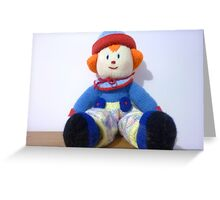 Hand knitted Clowns Greeting Card