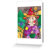 Lilli the Halloween Witch Greeting Card