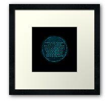 The Jedi code Framed Print