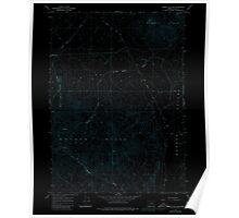 USGS Topo Map Oregon Rabbit Hills SW 281210 1967 24000 Inverted Poster