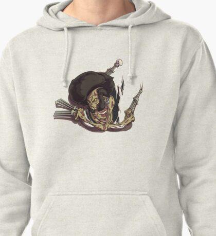 Beware of the Afro Ninja Zombie Pullover Hoodie