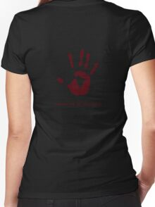 Dark Brotherhood: Sanguine, my brother. Women's Fitted V-Neck T-Shirt