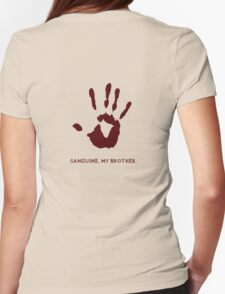 Dark Brotherhood: Sanguine, my brother. Womens Fitted T-Shirt