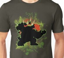 Super Smash Bros. Green Bowser Silhouette Unisex T-Shirt