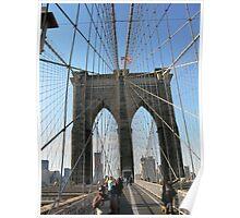 Brooklyn Bridge Spider Wires Poster
