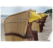 Beach Chairs in July Poster