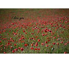 I love you... Photographic Print
