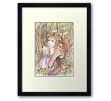 Elf in the Flowers Framed Print