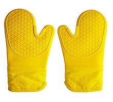 Oven Gloves Yellow Photographic Print