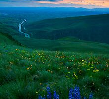 Dusk over the Yakima Valley by DawsonImages