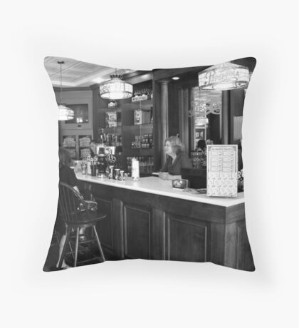 Inside the Pepsi Store - New Bern, NC Throw Pillow