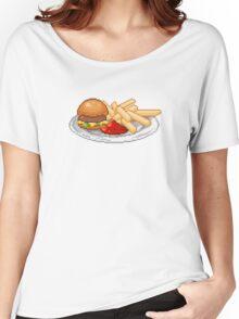 Pixel Burger Women's Relaxed Fit T-Shirt