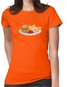 Pixel Burger Womens Fitted T-Shirt