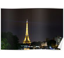 Paris - Eiffel Tower by night Poster
