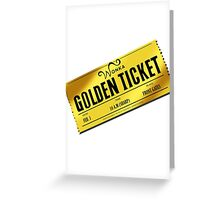 Charlie's Golden Ticket Greeting Card