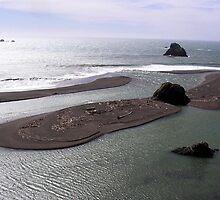 Russian River Mouth Sandbars - Sonoma County, CA by Rebel Kreklow