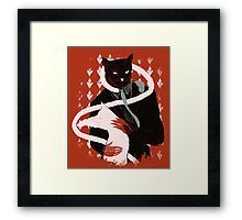 cat loves cats Framed Print