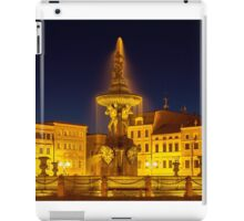 Night view of place in Ceske Budejovice, Czech Republic iPad Case/Skin