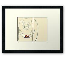 mcdonalds and manatee Framed Print