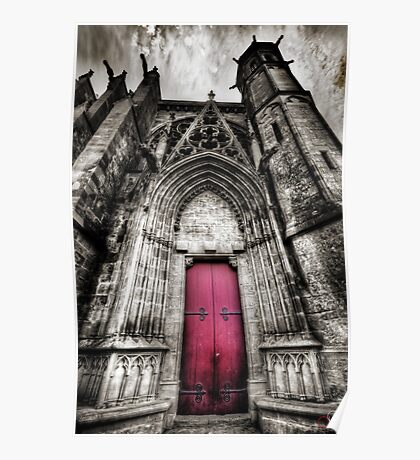 Carcassonne Cathedral Poster