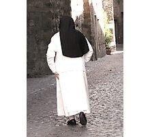 Nun on the Streets of Orvieto  Photographic Print
