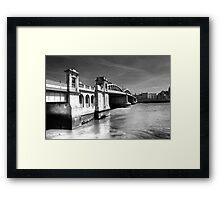 Rochester Bridge (infra red) Framed Print