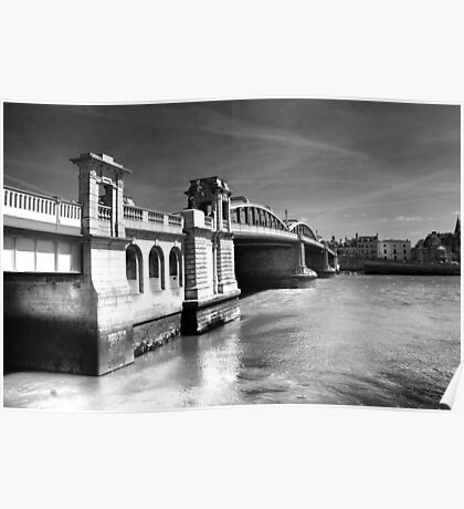 Rochester Bridge (infra red) Poster