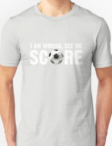 See Me Score - White Text Unisex T-Shirt