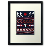 Zombie Christmas Shirt Framed Print