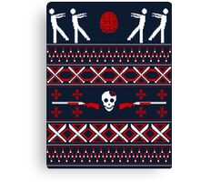 Zombie Christmas Shirt Canvas Print