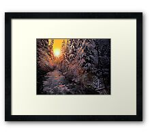 Glow On The Snow Framed Print