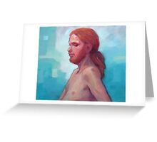 The Man with Red Hair Greeting Card