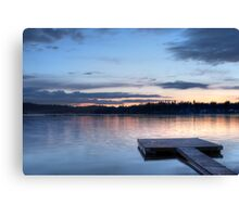 Peaceful Evening - Sunset over Loon Lake Canvas Print