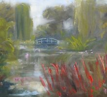 View to Monet's bridge by Tash  Luedi Art
