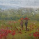 Wet fields, Giverny by Tash  Luedi Art
