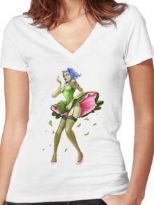 Pin Up Women's Fitted V-Neck T-Shirt