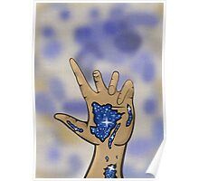 Galaxy in hand Poster