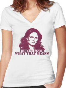 Bones - Temperance Brennan in red Women's Fitted V-Neck T-Shirt