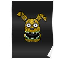 Five Nights at Freddy's 4 - PlushTrap - Pixel art Poster