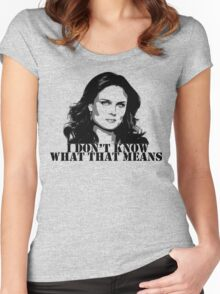 Bones - Temperance Brennan in black Women's Fitted Scoop T-Shirt