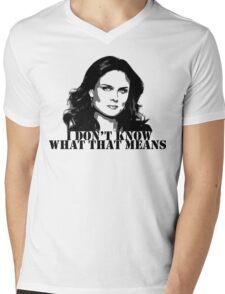 Bones - Temperance Brennan in black Mens V-Neck T-Shirt
