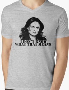 Bones - Temperance Brennan in black Mens V-Neck T-Shirt