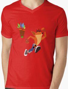 Crash Bandicoot Mens V-Neck T-Shirt