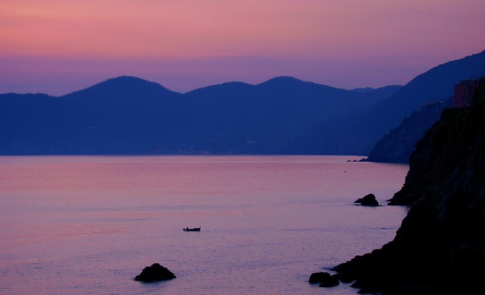 Sunset Riomaggiore by Melva Vivian