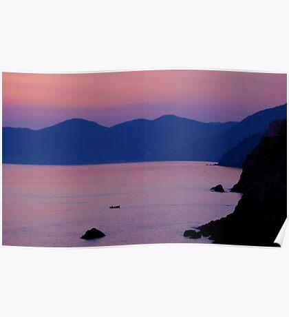 Sunset Riomaggiore Poster