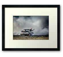 EX5LTR Tread Cemetery Burnout Framed Print